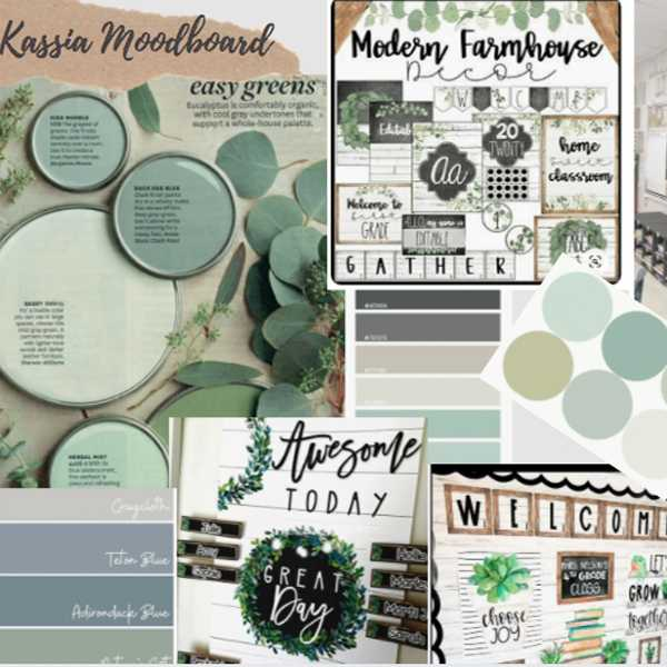 Mood boards for new Kassia Academy Environment